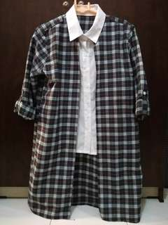 Tartan long shirt
