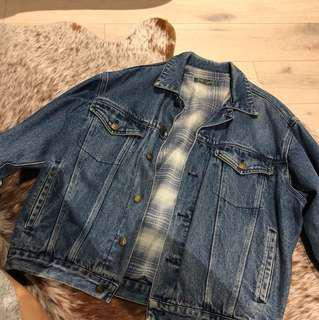 Vintage Lined Oversize Denim Jacket