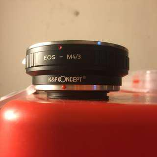 Eos - M4/3 lens adapter