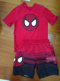 Spiderman 蜘蛛人防曬衣及海灘褲組