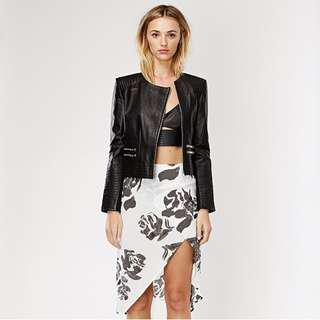 may the label floral print skirt