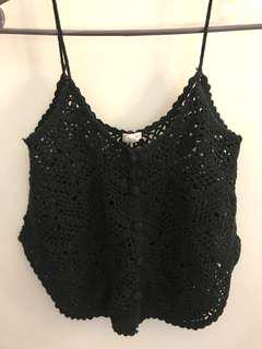 Crochet spaghetti strap crop top