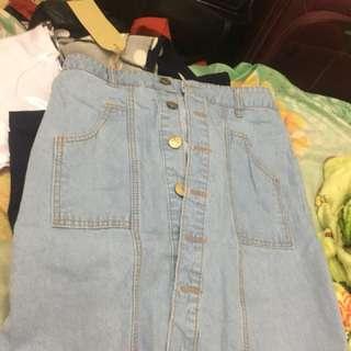 Button skirt short