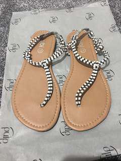 Cute Striped Sandals Size 6