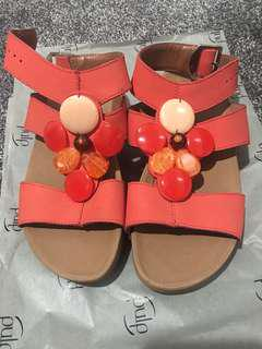 Fitflops Red with Beads and Stones in Size 6