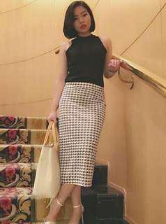 Houndstood skirt