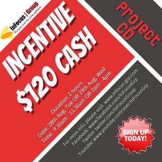 Looking for focus group participants - Incentive $120 cash