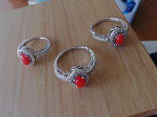 🚚 紅珊瑚戒指!!送禮的好選擇/一個350