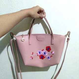 Pink long champ bag