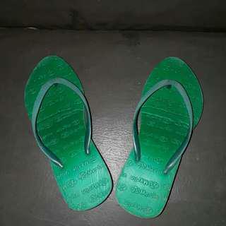 Sandal wedges hijau tosca #Merdeka73