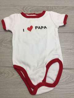 I love papa baby shirt