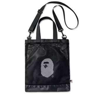 最新 日本雜誌贈品袋 A bathing Ape 斜揹袋 連索繩袋 cross body bag