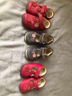 Clark's girl shoes 小朋友鞋 suit 3 to 18 months