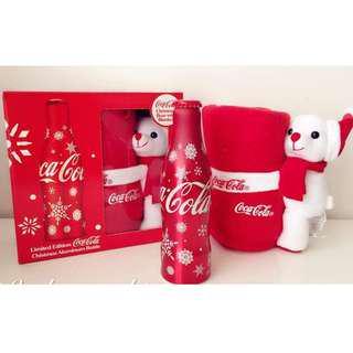 Coca-Cola Xmas Aluminum Bottle Singapore Box set