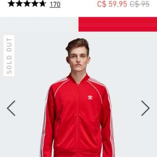 Red Adidas Men's Track Top