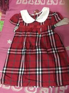 BABY DRESS CHECKERD