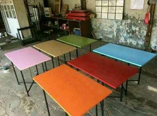 Meja papan kaki besi ukuran 1,20×60cm