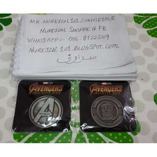 Marvel Avengers Infinity War Coin Limited Edition Merchandise
