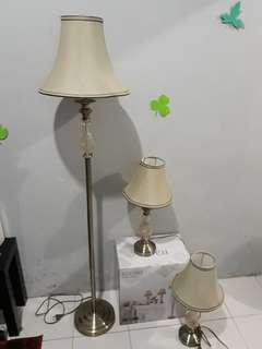 Turun harga Table lamp set (3)
