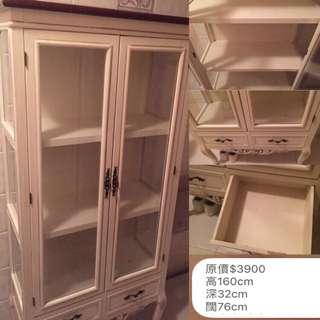 古典玻璃收納櫃