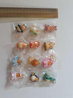Yujin Disney Winnie the Pooh Gashapon dangle accessories: Animal series