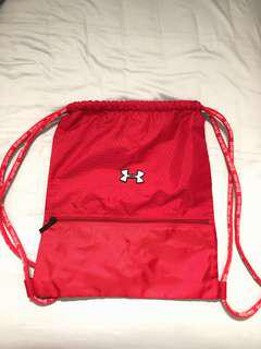 Red Under Armour Drawstring Bag
