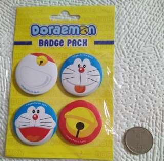 Doraemon Badge Pack 4 Pieces 叮噹襟章四個