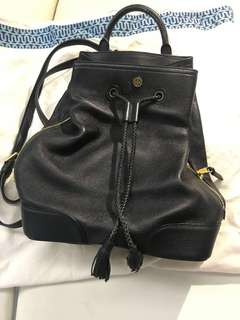 Tory Burch 黑色皮背囊 leather back pack