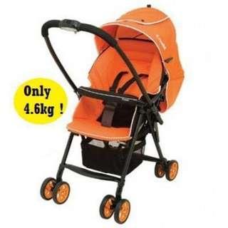 Combo light weight Orange stroller 仲好新淨好少用好耐冇用