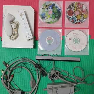 Wii 遊戲機 (已改) 包一套手掣