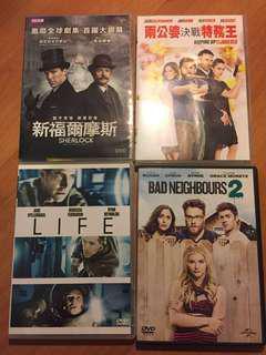 電影 dvd Bad Neighbours 2, 兩公婆決戰特務王, 新福爾摩斯, Life