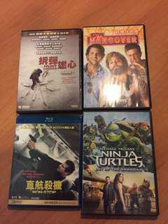Dvd 電影, 拆彈雄心,直航殺機,最爆伴郎團,忍者龜