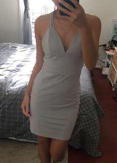 Kookai grey strap dress size 1