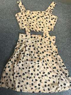套裝裙 crop top + skirt