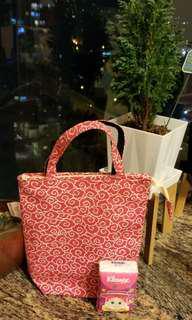 $69 祥雲圖案北海道handmade 小布袋 包郵 Lucky Cloud pattern bag include local postage (made in japan at 2002)