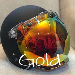Gold bubble shield visor
