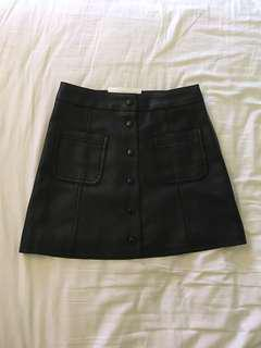 H&M faux leather skirt size 2