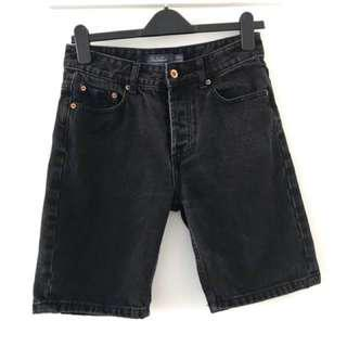 TOPMAN Black Jean Shorts