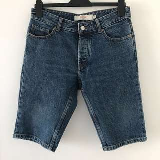 TOPMAN Blue Jean Shorts