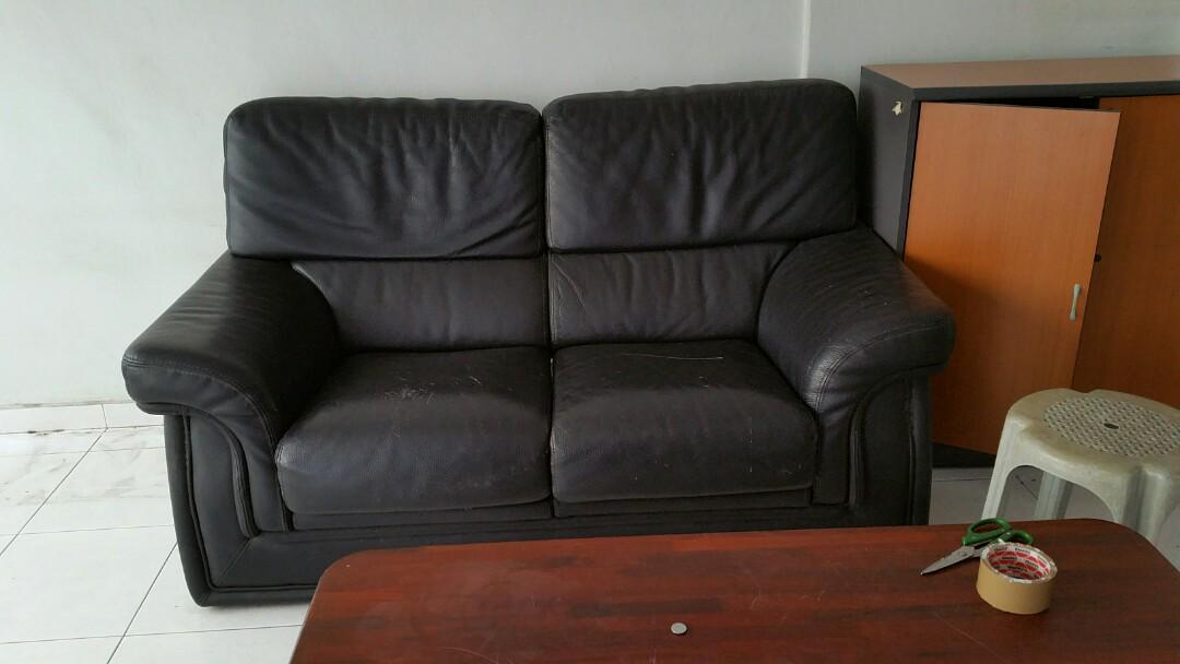 2 Sears Leather Sofa Furniture Sofas