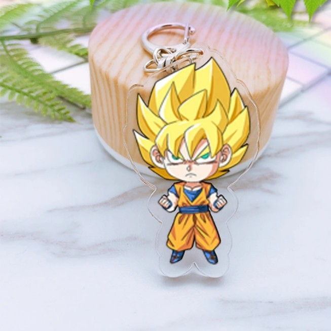 Novelty & Special Use Dragon Ball Super Saiyan Acrylic Cosplay Keychain Anime Dragonball Evolution Dbz Pendant Keyring Torankusu Frieza Llavero Costumes & Accessories