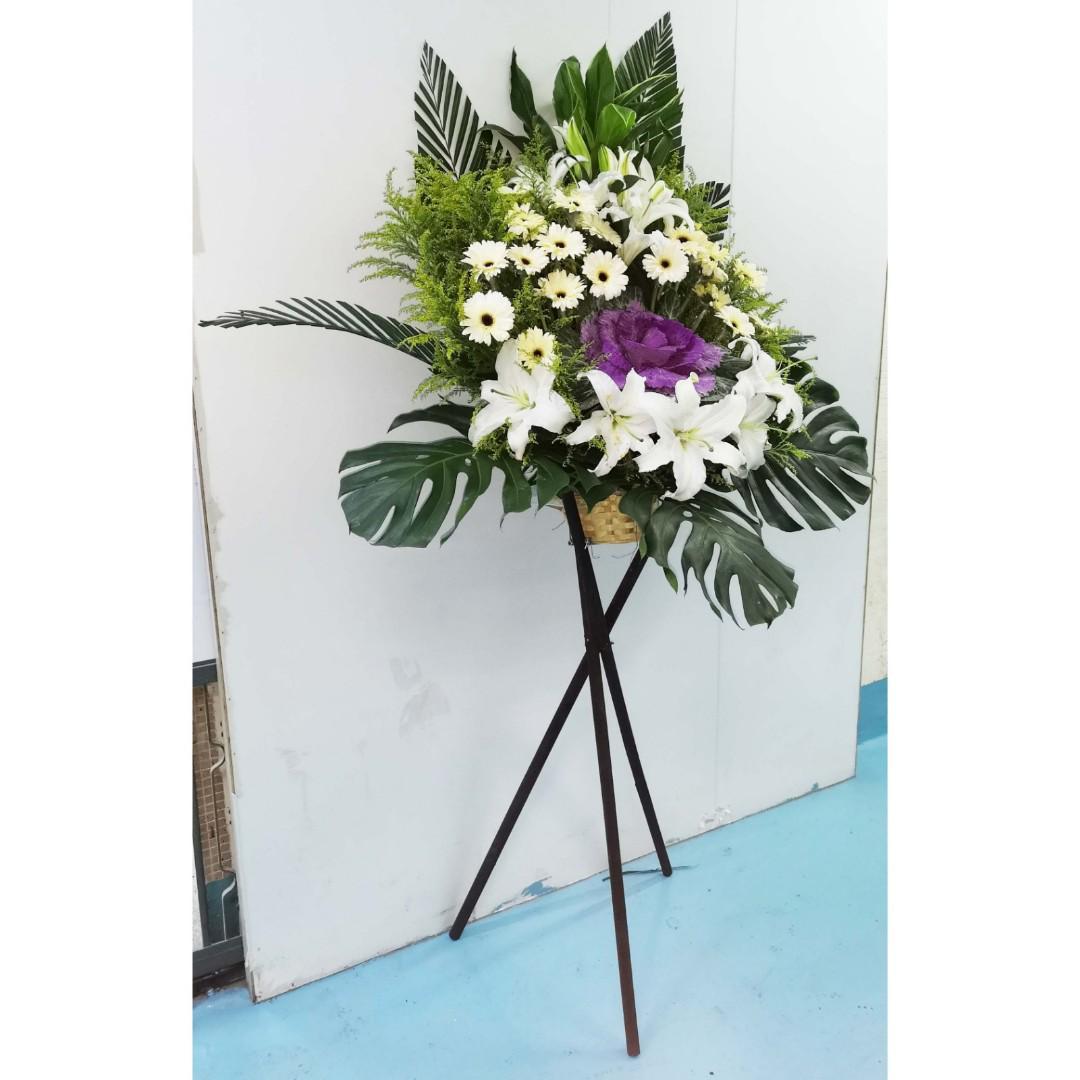 花籃(可自選顏色和花種)