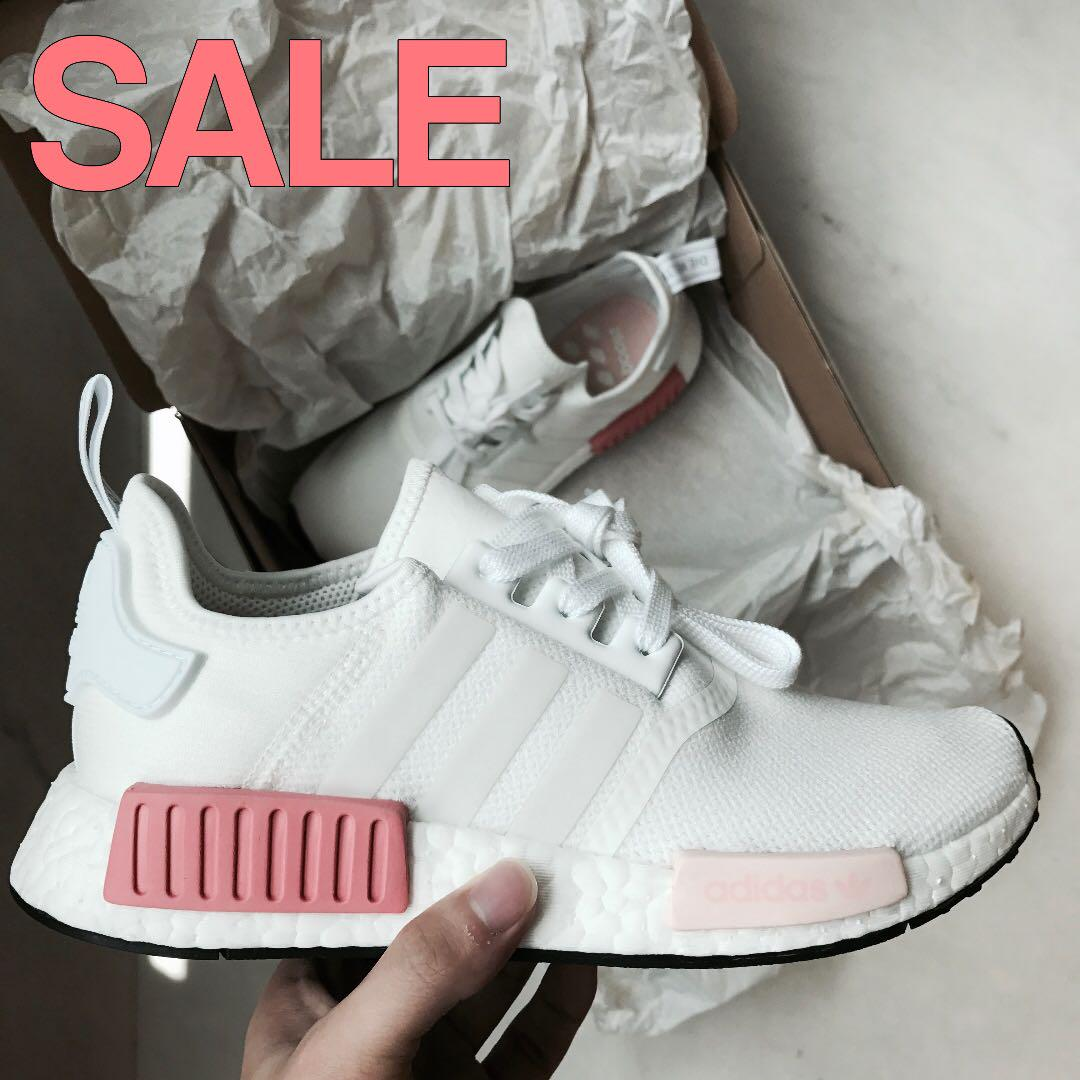 Adidas Nmd R1 White Rose Women S Fashion Shoes Sneakers On