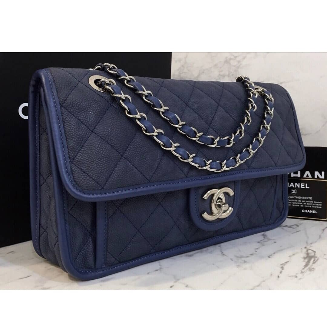 e6327587b128 Authentic Chanel Riviera Flap Bag, Luxury, Bags & Wallets on Carousell