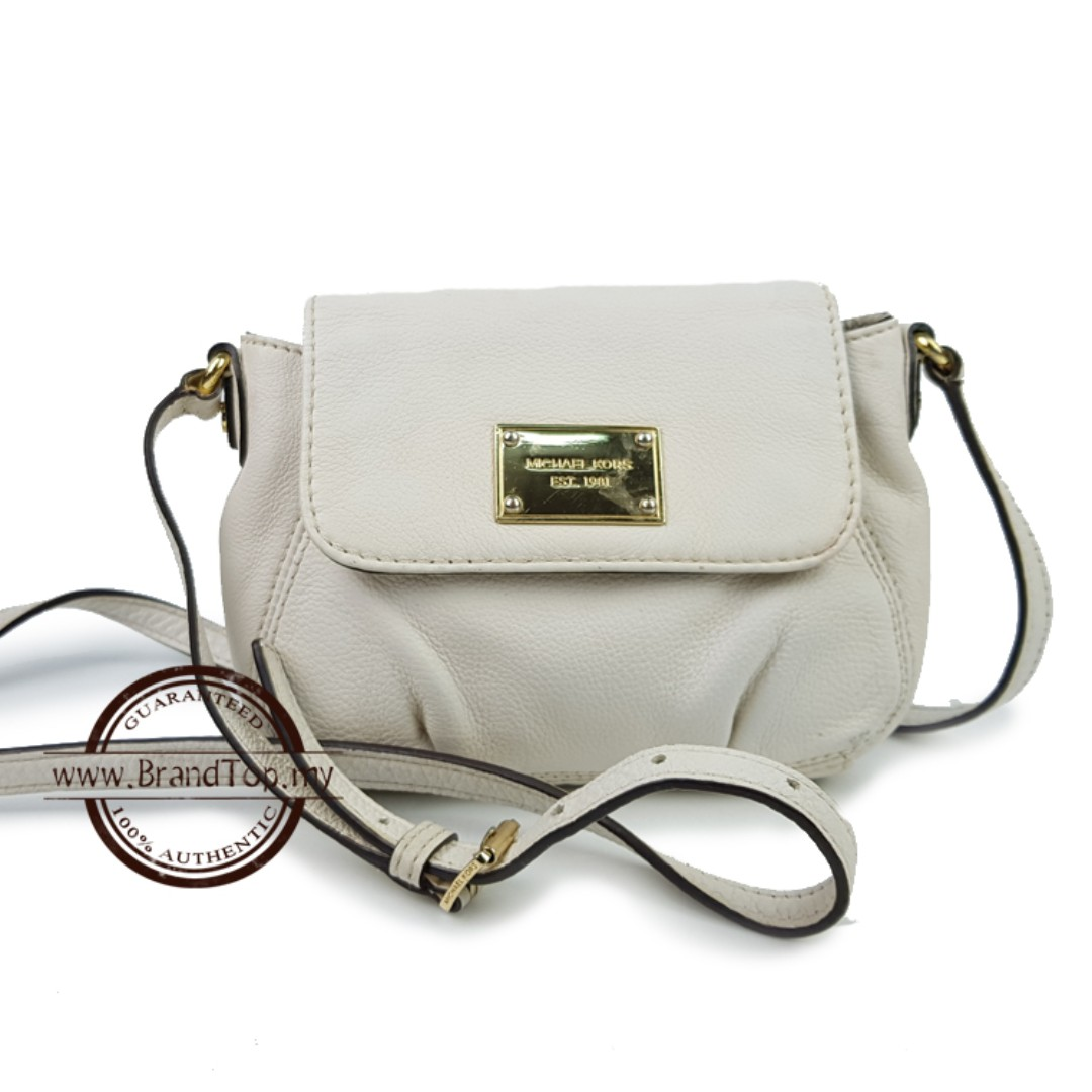 eb5c75ac647c95 Authentic Michael Kors White Sling Bag, Barangan Mewah, Beg dan ...