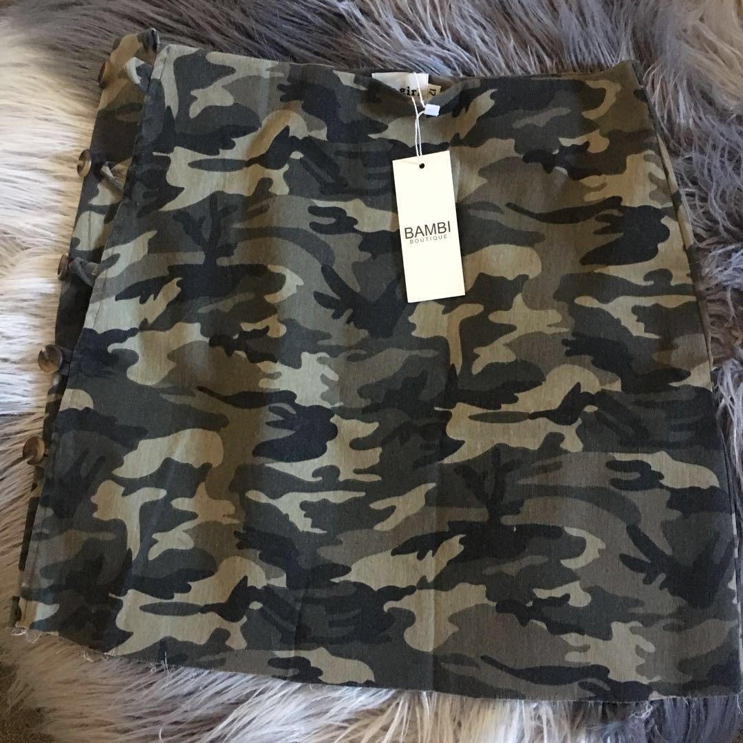 Bambi Boutique riri camo skirt