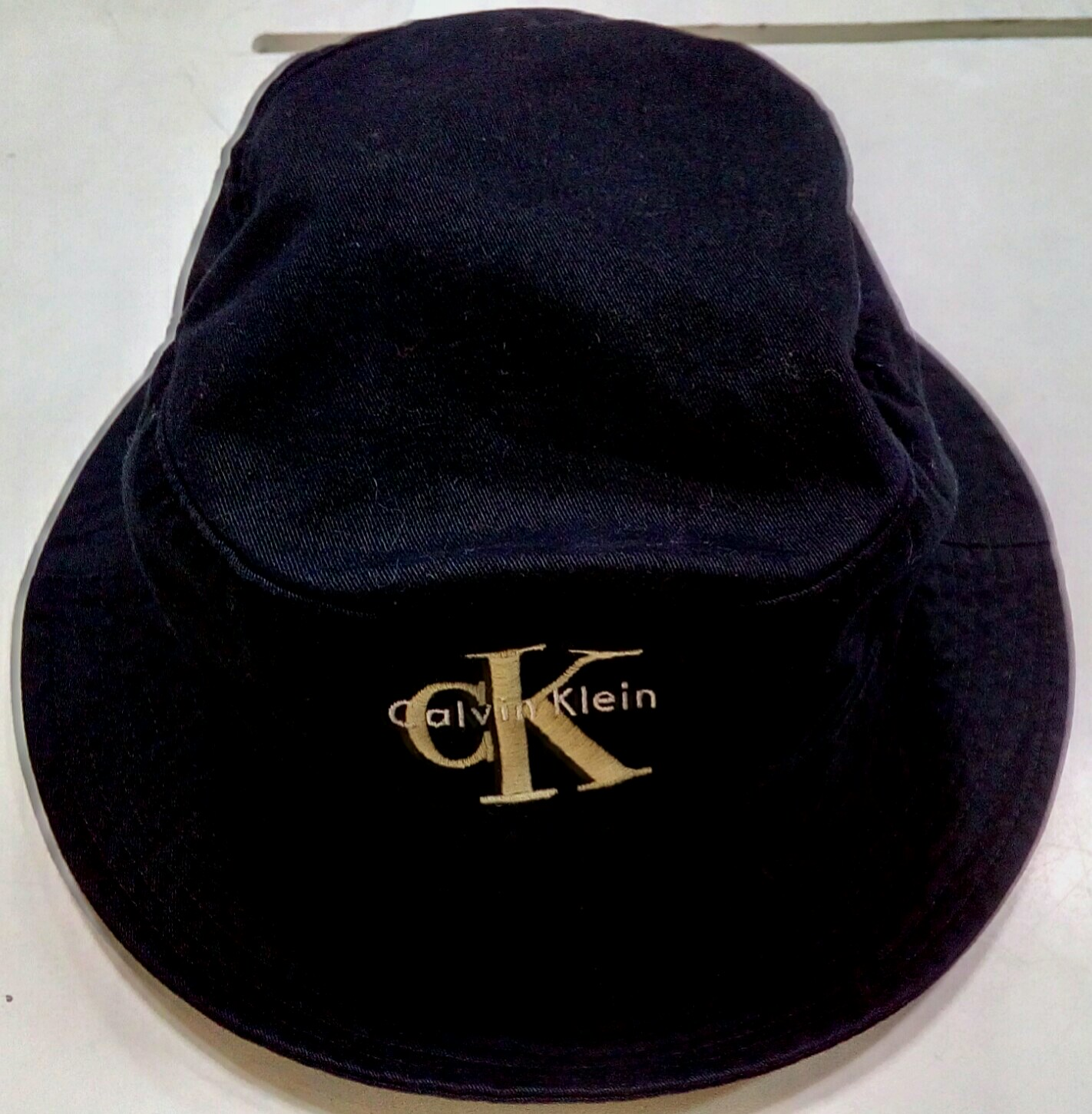 d4197ce6287 Calvin Klein CK embroidered big logo rare bucket hat