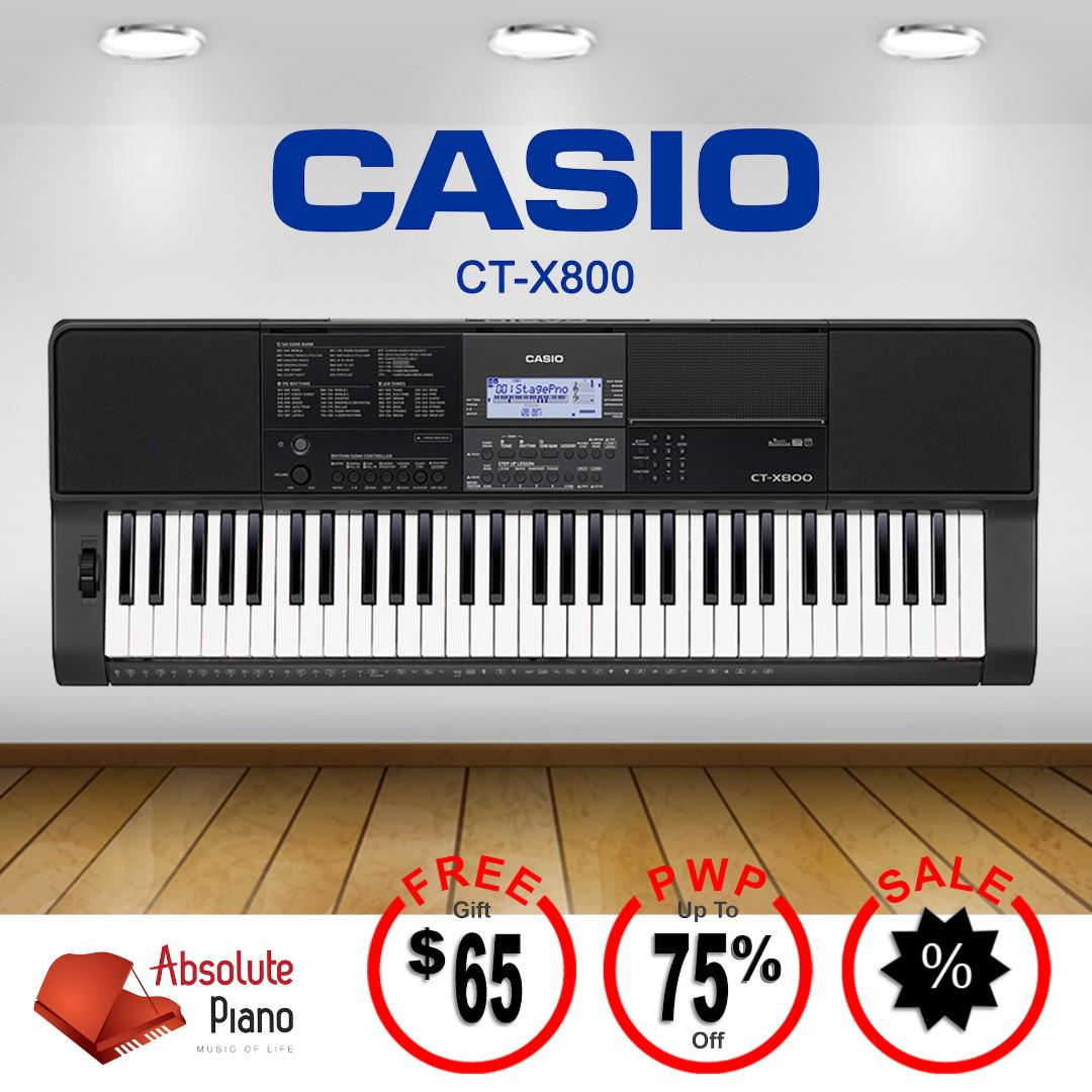 Casio Music Sale @ Viva Business Park! Casio Digital Keyboard CT-X 800