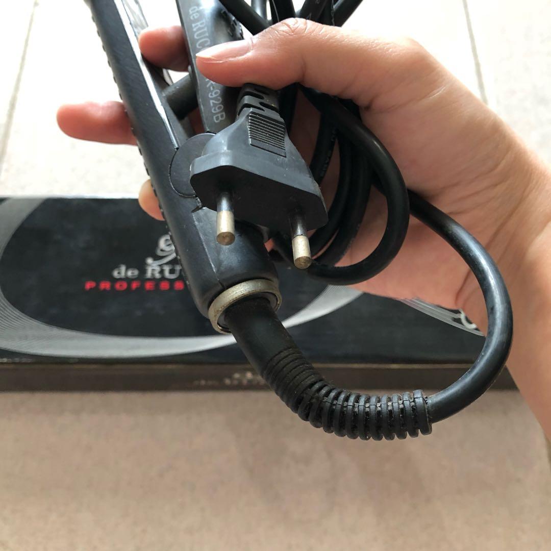 Catokan De Rucci Hair Straightener Kesehatan Kecantikan 2in1 Professional Perawatan Rambut Di Carousell