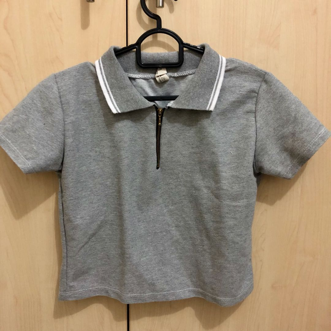 389ad818fa5 Cropped Polo Shirt, Women's Fashion, Clothes on Carousell